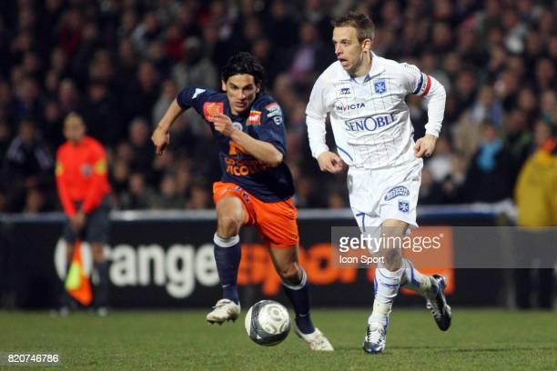 Alberto COSTA / Benoit PEDRETTI Montpellier / Auxerre 28eme journee de Ligue 1 Stade de la Mosson Montpellier