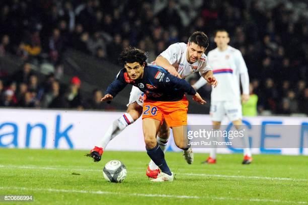 Alberto COSTA / Jeremy TOULALAN Lyon / Montpellier 19e journee Ligue 1 Stade Gerland Lyon