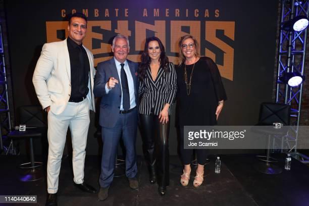 Alberto Del Rio Campbell McLaren Kate Del Castillo and Jackie Hernandez attend Kate del Castillo's announcement of her landmark deal with global MMA...