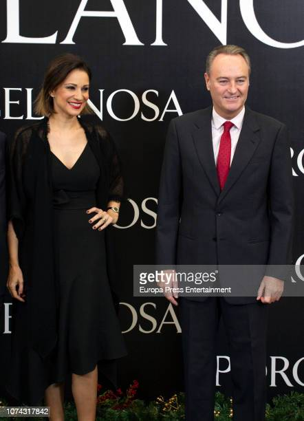 Alberto Fabra and Silvia Jato attend the opening of the new Porcelanosa store on December 14 2018 in Castellon de la Plana Spain