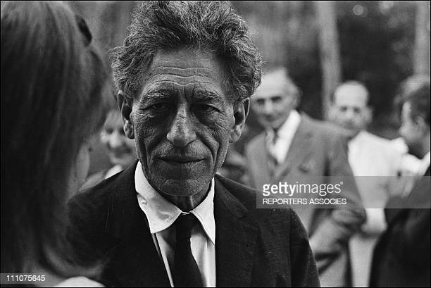Alberto Giacometti in France in August 1964