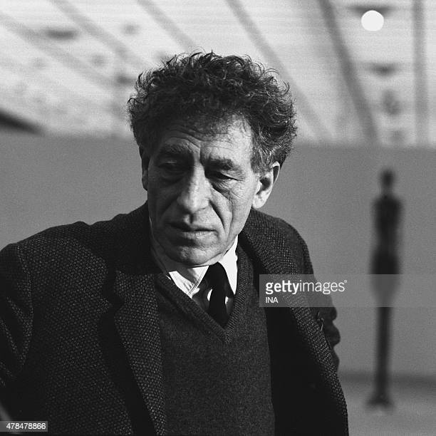 Alberto Giacometti in Zurich for the program ''The hot hours of Montparnasse'' on the occasion of a big exhibition which is dedicated to him