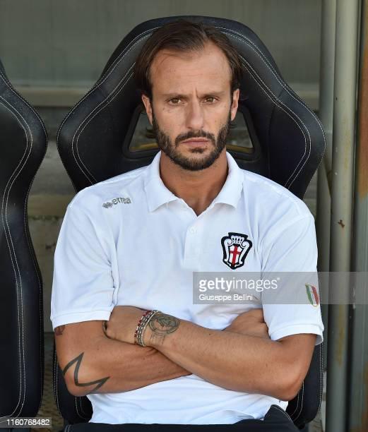 Alberto Gilardino head coach of Pro Vercelli gestures during the match between Ascoli Calcio 1898 FC and Pro Vercelli-TIM Cup at Stadio Cino e Lillo...