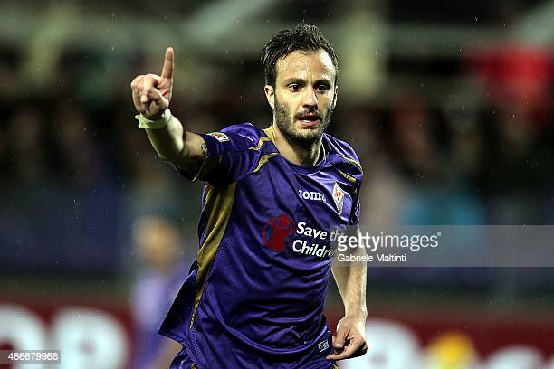 Alberto Gilardino of ACF Fiorentina reacts during the Serie A match between ACF Fiorentina and AC Milan at Stadio Artemio Franchi on March 16, 2015...