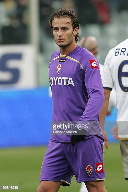Alberto Gilardino of ACF Fiorentina shows his dejection during the Serie A match between Fiorentina and Bologna at Stadio Artemio Franchi on January...