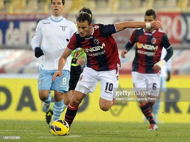 Alberto Gilardino of Bologna FC in action during the Serie A match between Bologna FC and S.S. Lazio at Stadio Renato Dall'Ara on December 10, 2012...