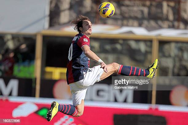 Alberto Gilardino of Bologna FC in action during the Serie A match between Bologna FC and AS Roma at Stadio Renato Dall'Ara on January 27, 2013 in...