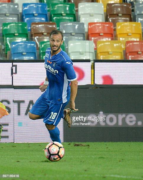 Alberto Gilardino of Empoli FC in action during the Serie A match between Udinese Calcio and Empoli FC at Stadio Friuli on August 28 2016 in Udine...