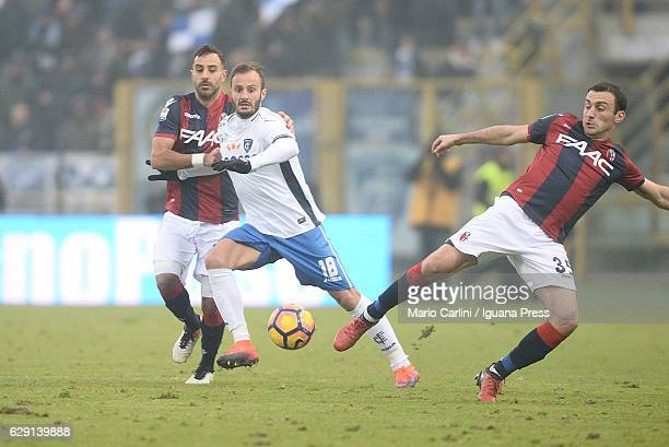 Alberto Gilardino of Empoli FC in action during the Serie A match between Bologna FC and Empoli FC at Stadio Renato Dall'Ara on December 11 2016 in...