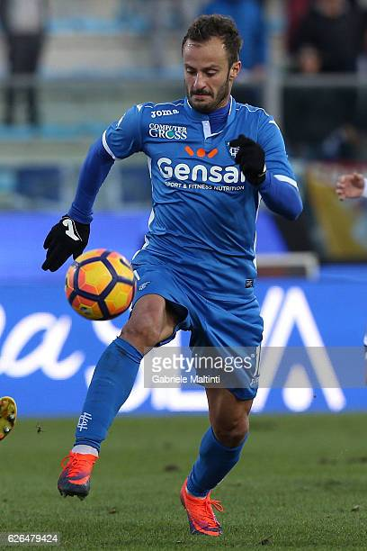 Alberto Gilardino of Empoli FC in action during the TIM Cup match between Empoli FC and AC Cesena at Stadio Carlo Castellani on November 29 2016 in...