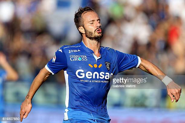 Alberto Gilardino of Empoli FC reacts during the Serie A match between Empoli FC and AS Roma at Stadio Carlo Castellani on October 30 2016 in Empoli...