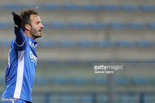 Alberto Gilardino of Empoli FC reacts during the TIM Cup match between Empoli FC and AC Cesena at Stadio Carlo Castellani on November 29 2016 in...