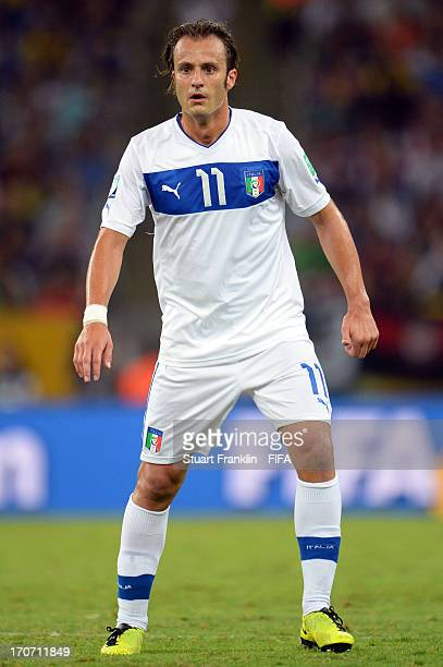 Alberto Gilardino of Italy in action during the FIFA Confederations Cup Brazil 2013 Group A match between Mexico and Italy at the Maracana Stadium on...