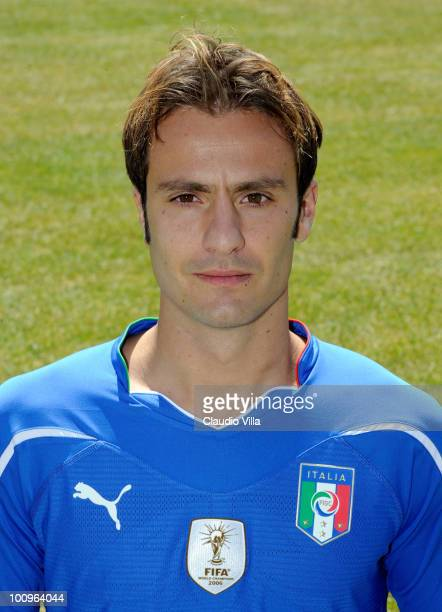 Alberto Gilardino of Italy poses during the official Fifa World Cup 2010 portrait session on May 26, 2010 in Sestriere near Turin, Italy.