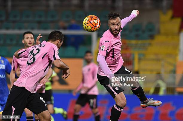 Alberto Gilardino of Palermo in action during the Serie A match between US Citta di Palermo v Frosinone Calcio at Stadio Renzo Barbera on December 12...