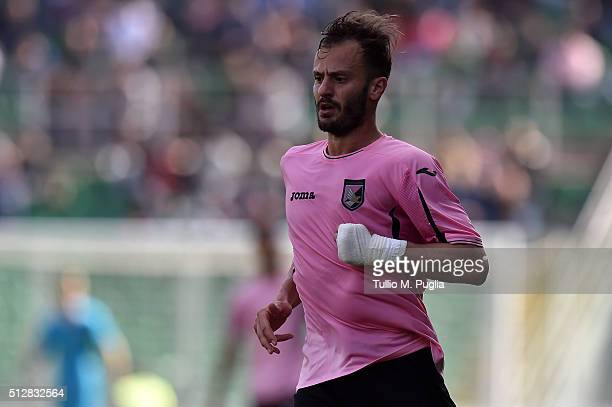 Alberto Gilardino of Palermo in action during the Serie A match between US Citta di Palermo and Bologna FC at Stadio Renzo Barbera on February 28,...