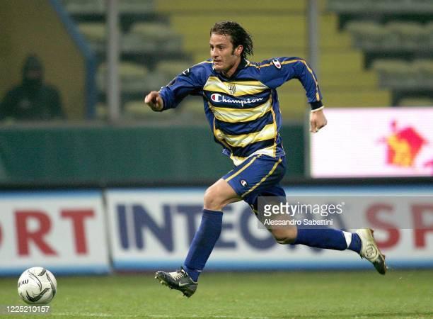 Alberto Gilardino of Parma Calcio in action during the Serie A 2004-05 Italy.