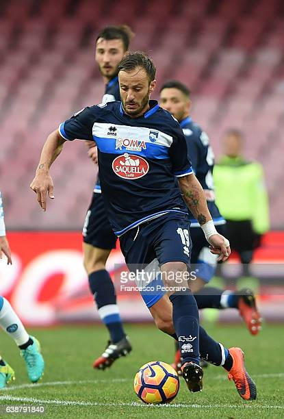 Alberto Gilardino of Pescara Calcio in action during the Serie A match between SSC Napoli and Pescara Calcio at Stadio San Paolo on January 15 2017...