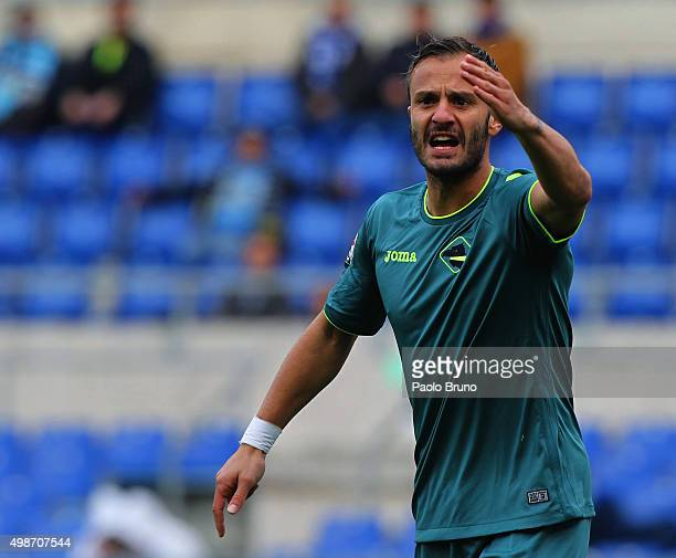 Alberto Gilardino of US Citta di Palermo reacts during the Serie A match between SS Lazio and US Citta di Palermo at Stadio Olimpico on November 22...