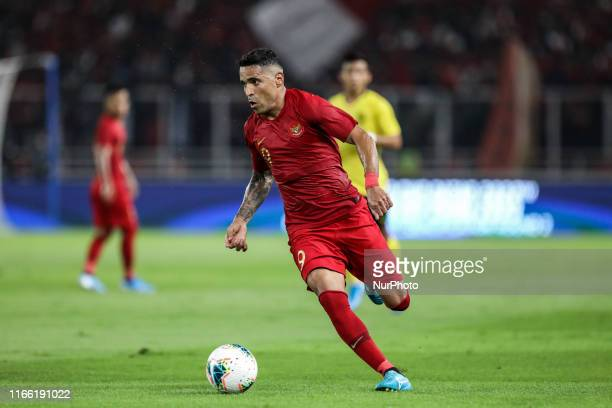 Alberto Goncalves of Indonesian's in action during FIFA World Cup 2022 qualifying match between Indonesia and Malaysia at the Gelora Bung Karno...
