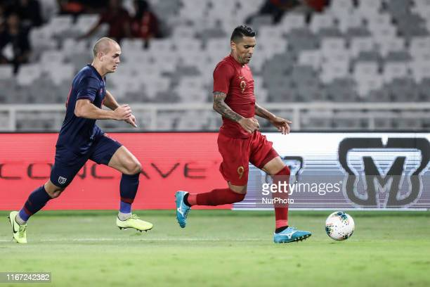 Alberto Goncalves of Indonesian's in action during FIFA World Cup 2022 qualifying match between Indonesia and Thailand at the Gelora Bung Karno...