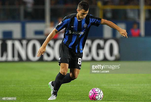 Alberto Grassi of Atalanta BC in action during the Serie A match between Atalanta BC and Frosinone Calcio at Stadio Atleti Azzurri d'Italia on August...
