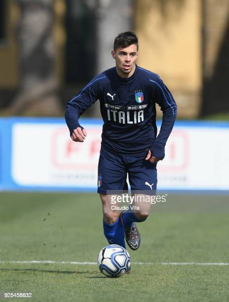 Alberto Grassi of Italy in action during the frienldy match between Italy and Fiorentina U19 at Coverciano on February 28 2018 in Florence Italy