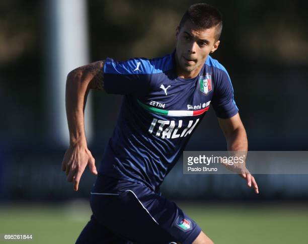 Alberto Grassi of Italy U21 in action during the Italy U21 training session at Fulvio Bernardini sport center on June 12 2017 in Rome Italy