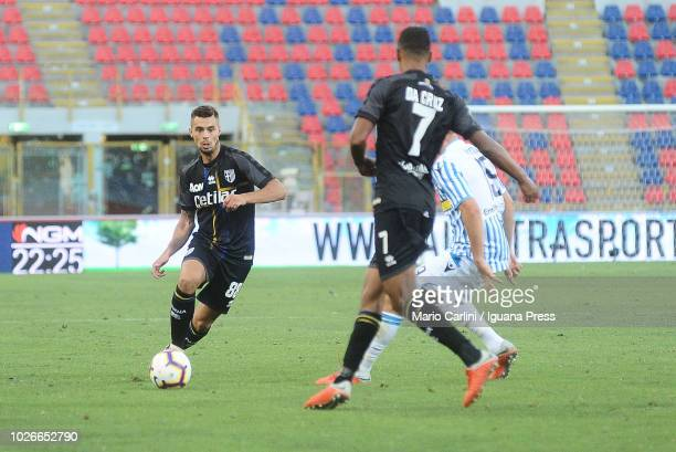 Alberto Grassi of Parma Calcio in action during the serie A match between SPAL and Parma Calcio at Stadio Renato Dall'Ara on August 26 2018 in...