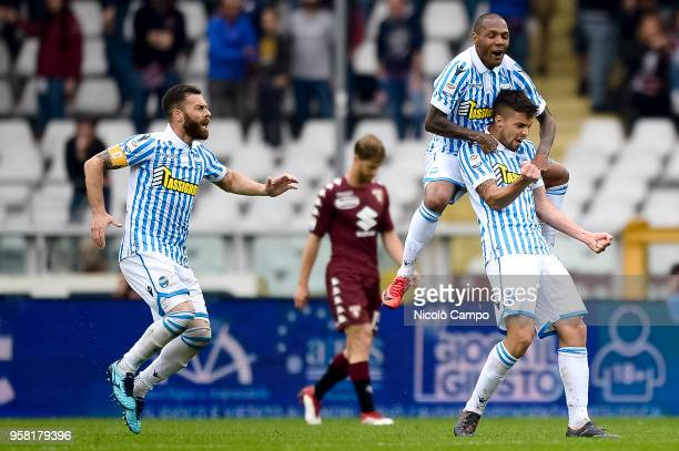 Alberto Grassi of Spal celebrates after scoring the opening goal during the Serie A football match between Torino FC and Spal Torino FC won 21 over...