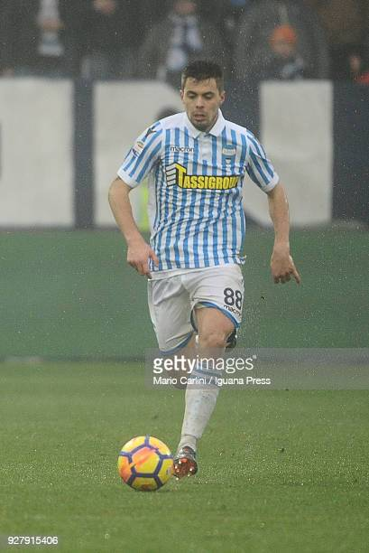 Alberto Grassi of Spal in action during the serie A match between Spal and Bologna FC at Stadio Paolo Mazza on March 3 2018 in Ferrara Italy