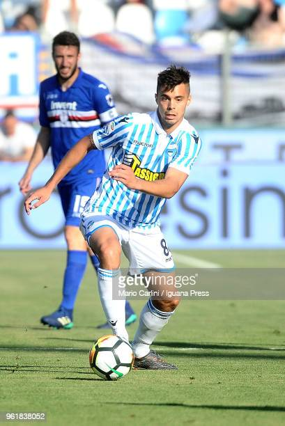 Alberto Grassi of Spal in action during the serie A match between Spal and UC Sampdoria at Stadio Paolo Mazza on May 20 2018 in Ferrara Italy