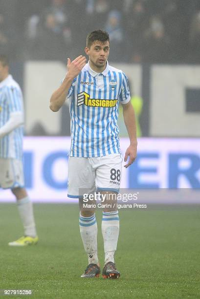 Alberto Grassi of Spal reacts during the serie A match between Spal and Bologna FC at Stadio Paolo Mazza on March 3 2018 in Ferrara Italy
