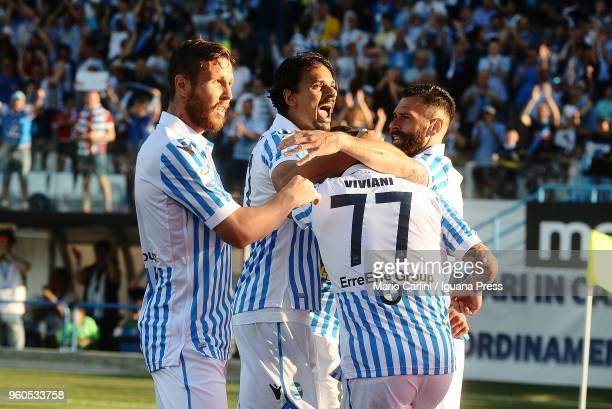 Alberto Grasssi of Spal celebrates after scoring his team's second goal during the Serie A match between Spal and UC Sampdoria at Stadio Paolo Mazza...