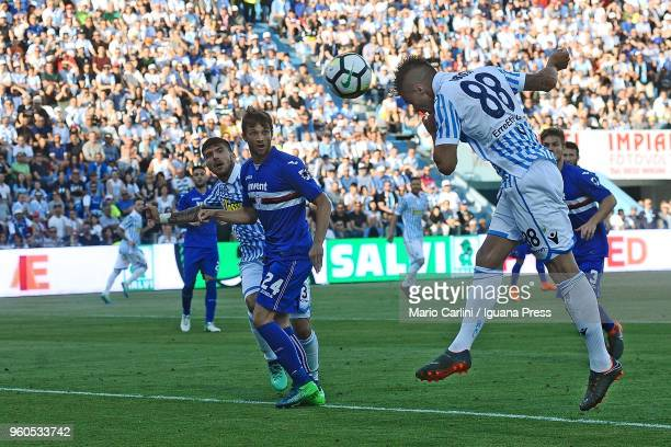 Alberto Grasssi of Spal scores his team's second goal during the Serie A match between Spal and UC Sampdoria at Stadio Paolo Mazza on May 20 2018 in...