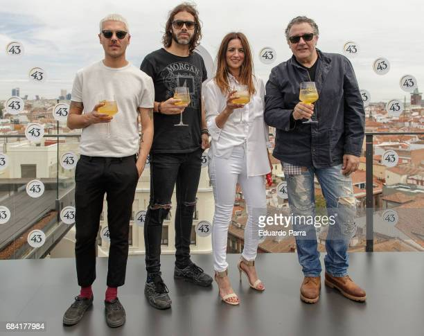Alberto Jimenez Alvaro Navrro Bebe and Carlos Goni attend the '43 Live the roof' press conference at Emperador hotel on May 17 2017 in Madrid Spain