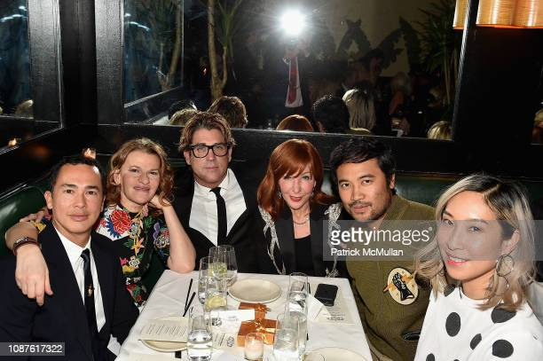 Alberto Latorre Sandra Bernhard Carlos Betancourt Michele Fabrizi Freddy Anzures and Marcie Chin attend The Andy Warhol Museum's Annual NYC Dinner at...
