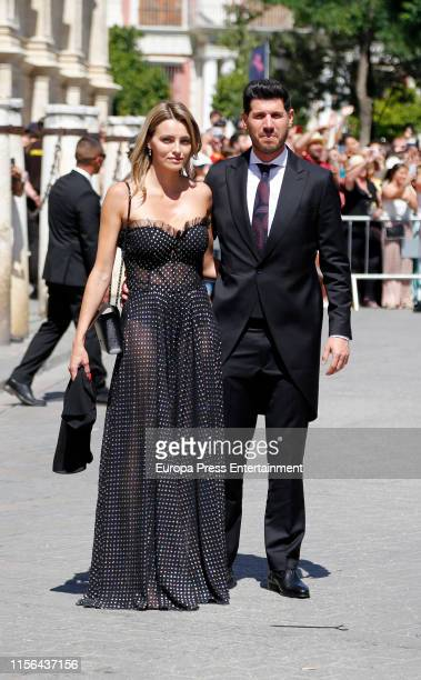 Alberto Luque attends the wedding of Real Madrid football player Sergio Ramos and Tv presenter Pilar Rubio at Seville's Cathedral on June 15 2019 in...
