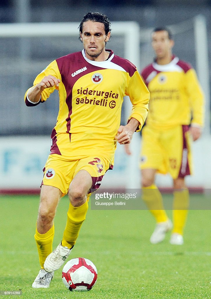 Alberto Marchesan of AS Cittadella in action during the Serie B match between Ascoli Calcio and AS Cittadelle at Stadio Cino e Lillo Del Duca on November 7, 2009 in Ascoli Piceno, Italy.