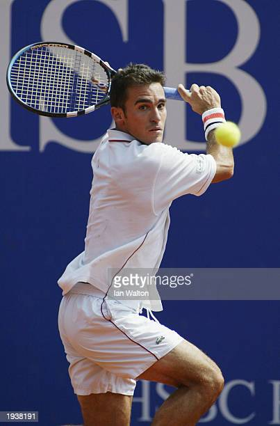Alberto Martin of Spain in action against Juan Carlos Ferrero of Spain during the quarter final of the Tennis Masters at The Monte Carlo Country Club...