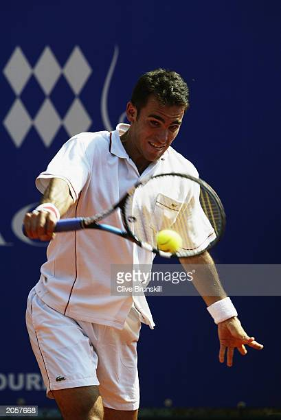 Alberto Martin of Spain in action during the third round of the Tennis Masters on April 17 2003 at The Monte Carlo Country Club in Monte Carlo Monaco
