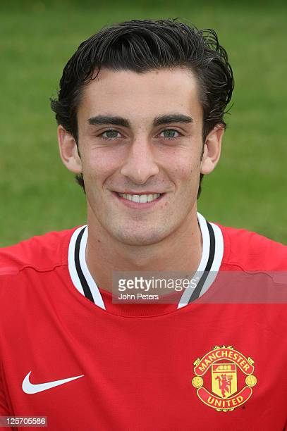 Alberto Massacci of the Manchester United Reserve Team squad poses at the annual club photocall at Carrington Training Ground on September 16 2011 in...