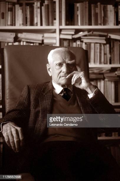 Alberto Moravia Italian writer Milan Italy 9th May 1990