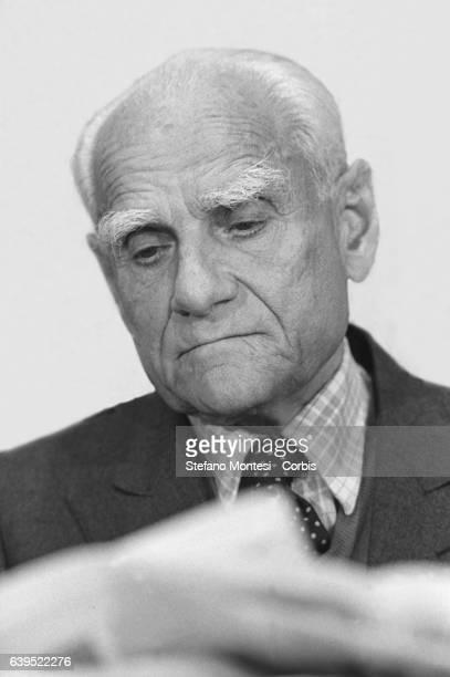 Alberto Moravia Italian writer on June 3 1986 in Rome Italy