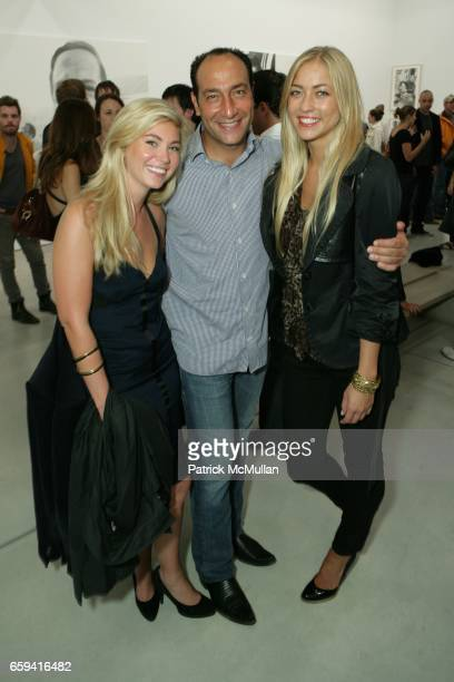 Alberto Mugrabi and Alina Kohlem attend Dennis Hopper's 'Signs of The Times' Opening at the Tony Shafrazi Gallery on September 12 2009 in New York...