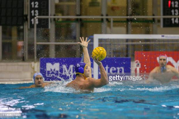 Alberto Munarriz of Barceloneta during the Champions League water polo match between Pro Recco and Barceloneta on march 15 2019 at Piscina...