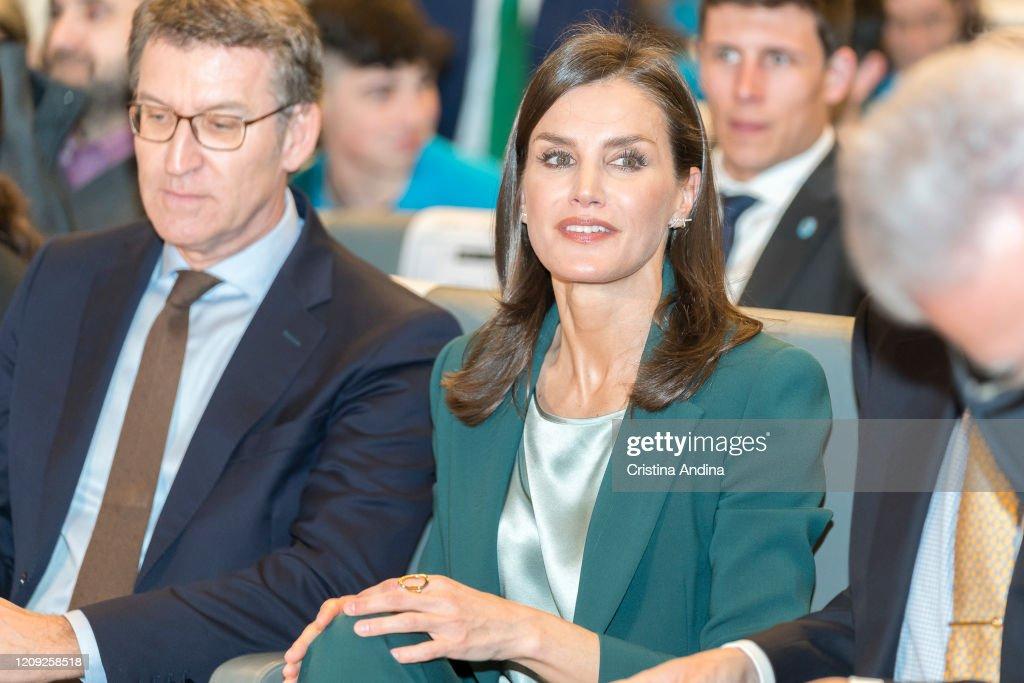 Queen Letizia of Spain Attends 'Fundacion Princesa De Girona' Awards In A Coruna : News Photo