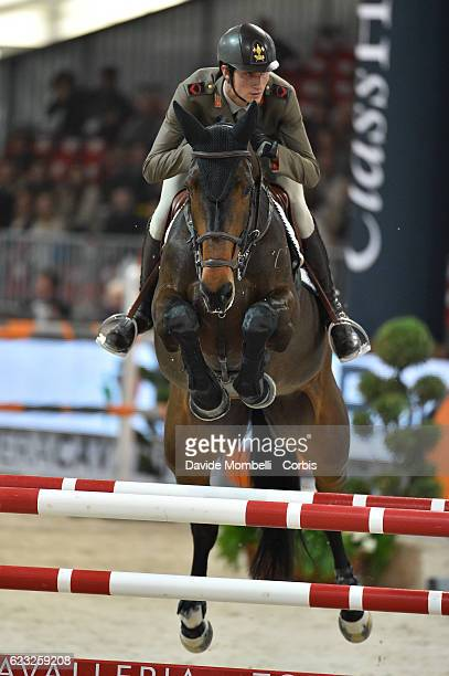 Alberto of Italy rides Danique during the FEI Longines CSI5* World Cup Small Tour By BMW Jumping Verona 2016 on November 10 2016 in Verona Italy