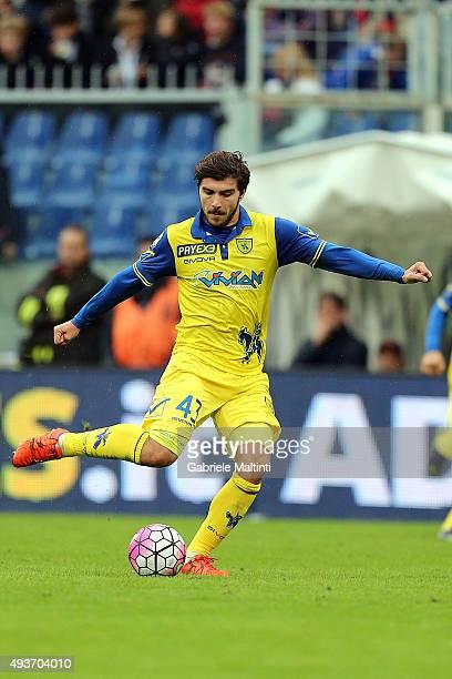 Alberto Paloschi of AC Chievo Verona in action during the Serie A match between Genoa CFC and AC Chievo Verona at Stadio Luigi Ferraris on October...