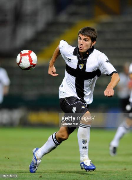 Alberto Paloschi of Parma FC in action during the friendly match between Parma FC and Osasuna at Ennio Tardini stadium on August 8 2009 in Parma Italy